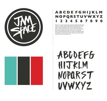 Jam Space branding by Lauren Magda