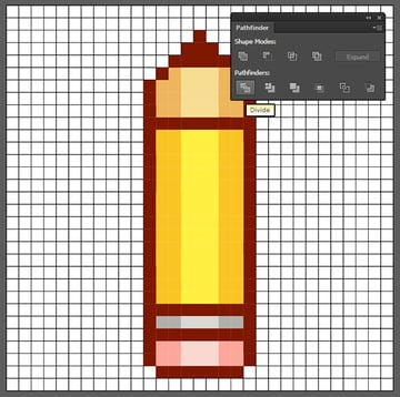 Extract the pencil from the grid