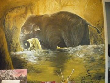 Lias elephant painting using the elephant anatomy tutorial