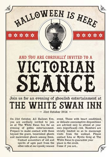 Commenter Lauras result in creating a Victorian styles poster in InDesign