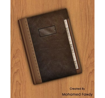 Mohamed Fawzys leather address book icon