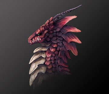 Dragons are Monikas favorite drawing subject