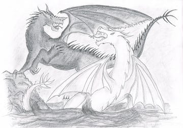 One of the first dragon pictures Ive ever drawn dated probably 2006-2007