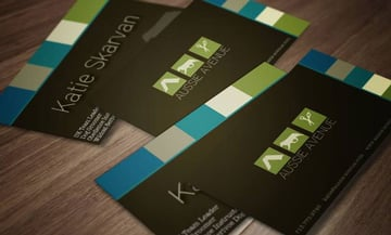 Aussie Avenue business card designs by Kea Grace