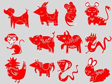 Dukens set of chinese zodiac icons