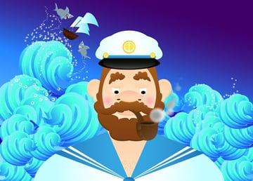 Magdalenas whimsical sea captain piece