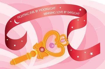 Peachyboness sailormoon-inspired key illustration