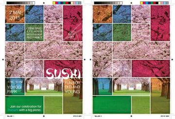 Crysanders hanami party poster design