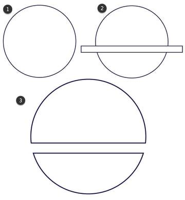 Draw your hamburger buns