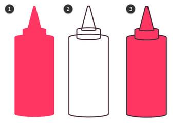 outline the ketchup bottle
