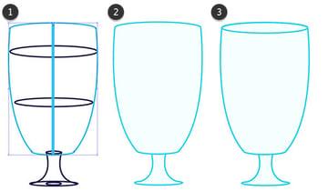 Complete the base glass shape
