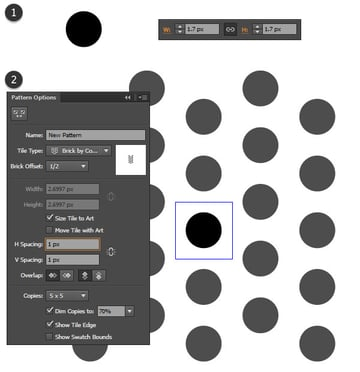 create a simple dot pattern