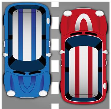 Flos aerial car illustration