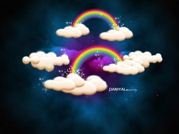 Daniyal Bhuttos rainbow filled sky design
