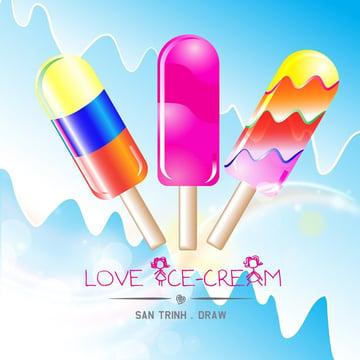 ice cream lollies by san trinh