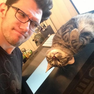 Dan and his cat Remy