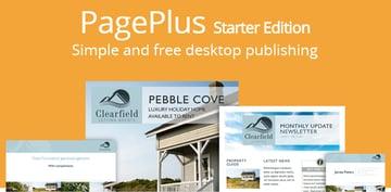 Pageplus starter edition promotional designs