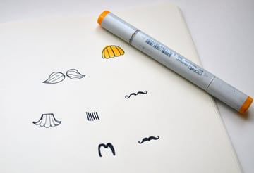 color in your mustache shapes