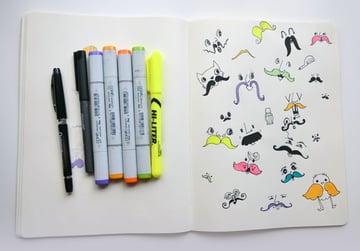 Final mustache pattern in my journal
