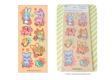 Sticker designs for Stickeroni and Hallmark Cards by Maria Sarria