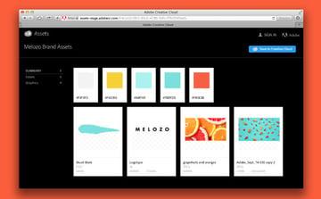 Creative Cloud Assets interface