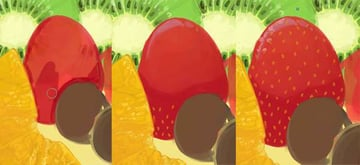 Give your strawberry shadow colors and seeds