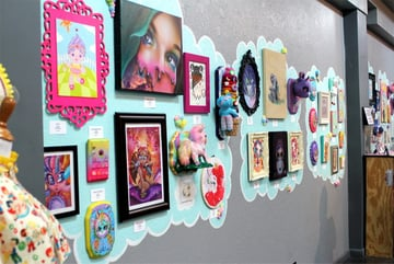 The Candy Coated Dreams show at Slushbox Gallery in spring 2015