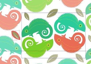 Draw Copy and Paste multiple instances of leaves around your pattern