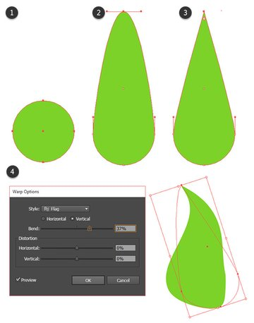 Drawing the first corn husk leaf