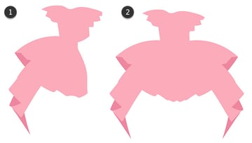 Create a symmetrical dress quickly and easily