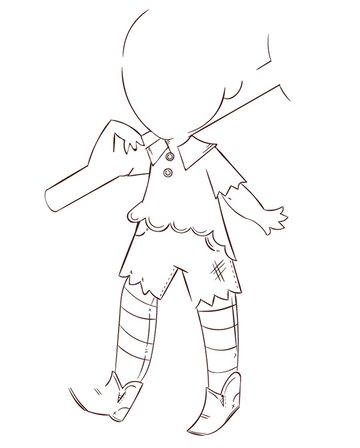 The line art isolated