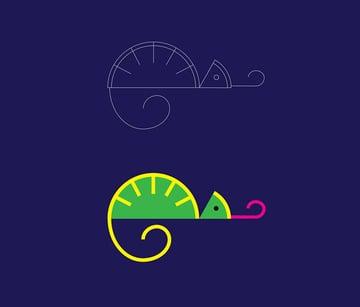 funky chameleon logo