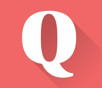 Long shadow applied to the letter Q