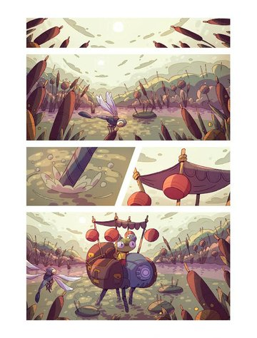 Comic panels by Sergey Gudkov