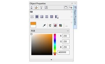 recolor objects in the object properties docker