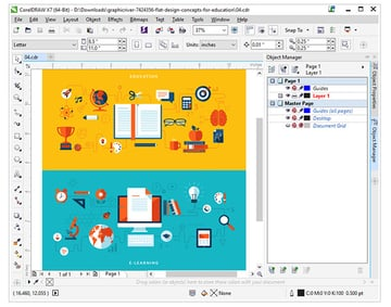 Open your ai file in coreldraw and take note of its contents