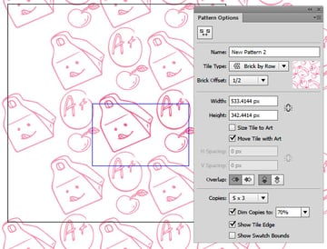 create a new pattern with the original patterns design features
