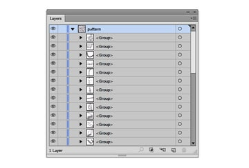 Check out the objects grouped together in the layers panel