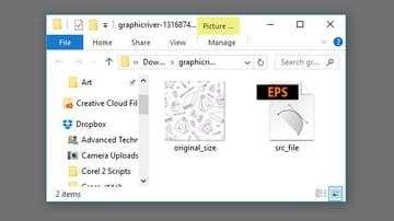 Some patterns only contain a preview image and single vector file