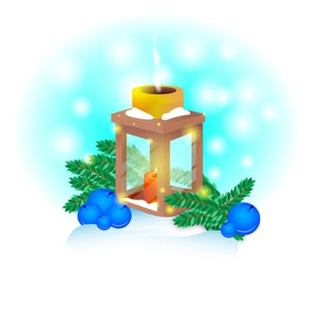 Muhammad Awais commented with his version of a winter lantern illustration from a tutorial by Yulia Sokolova