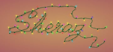Illiterate Awan commented with his personalized version of a Christmas lights text effect from a tutorial by Andrei Marius