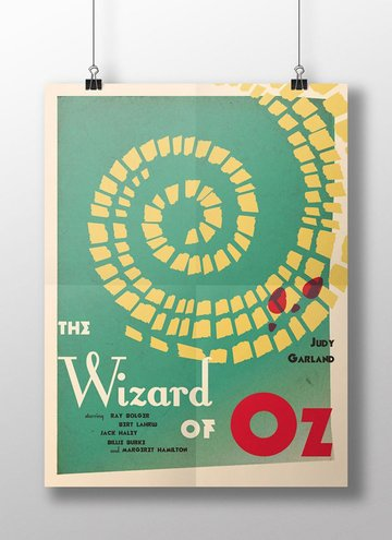 Narcisa Didoaca shared her result from a Wizard of Oz movie poster tutorial by Grace Fussell
