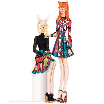 Fashion Illustrations by Svetlana Makarova