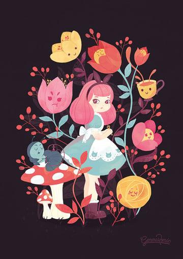 Mobile Vulgaris - Alice in Wonderland 150th anniversary