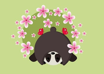 Szabina shared their version of a super cute panda created with basic shapes thanks to a tutorial by Nataliya Dolotko