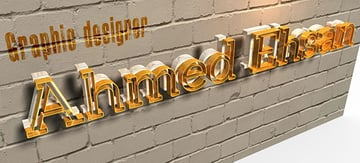 Ahmed Ehsan commented with his personalized result from a glowing 3D text effect tutorial by Rose
