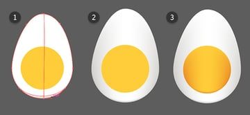Add gradient meshes to the egg objects in order to render them