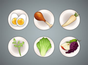 Arrange your items on your plate or in a circle according to the arrangement of a real Seder plate