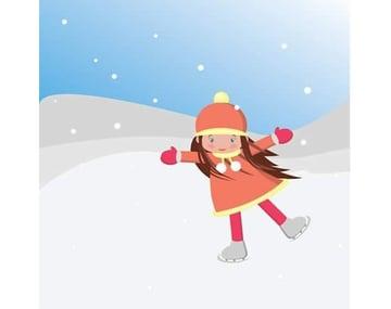 Nguyn Thu Huyn shared their result from a skating girl illustration tutorial by Nataliya Dolotko