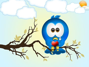 User chanchala verma commented with their version of a cute twitter bird icon from a tutorial by Alberto Kaiser Sosa